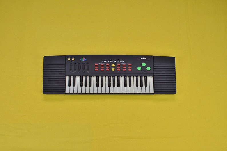 vintage Piano Synthesizer 3713D Music Keyboard industrial loft studio decor