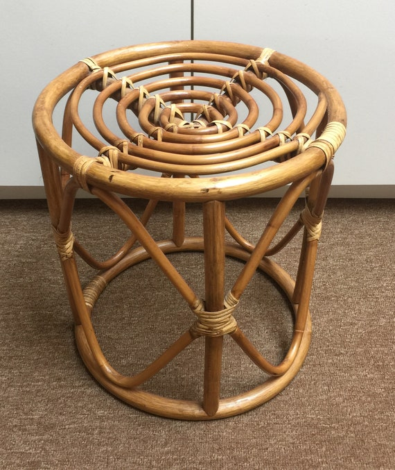 Becca stool bamboo furniture modern bamboo Tejo Remy Image Venidaircom Thonet Style Bentwood Side Table Plant Stand Stool Ottoman Etsy