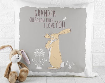 Personalised Guess How Much I Love You Cushion Cover - Pillow Cover - Nursery Decor - Baby Gift -1st Birthday FREE UK DELIVERY