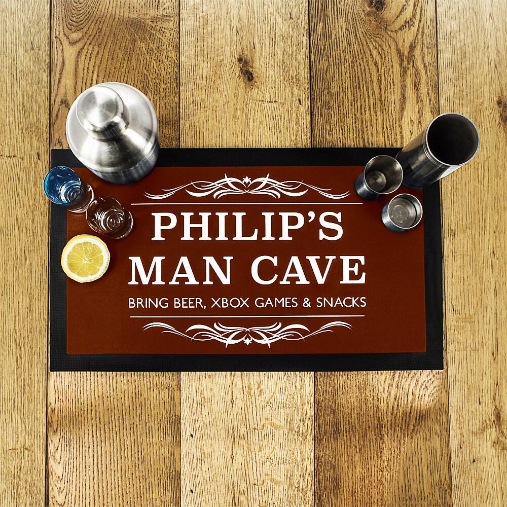 Herren Mann Cave Bar Matte braun Vatertag Geschenk Tropf