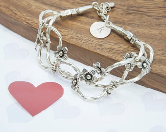 Fine Silver Forget Me Knot Bracelet - Romantic Gift - Romantic Jewellery - Mother's Day Gift - Valentine's Day Jewellery-FREE UK DELIVERY!