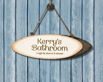 Bathroom Wooden Sign - Mother's Day Gift - Gift For Mum - Mom - Personalised Gift - Home Decor - House Warming Gift - FREE UK DELIVERY!