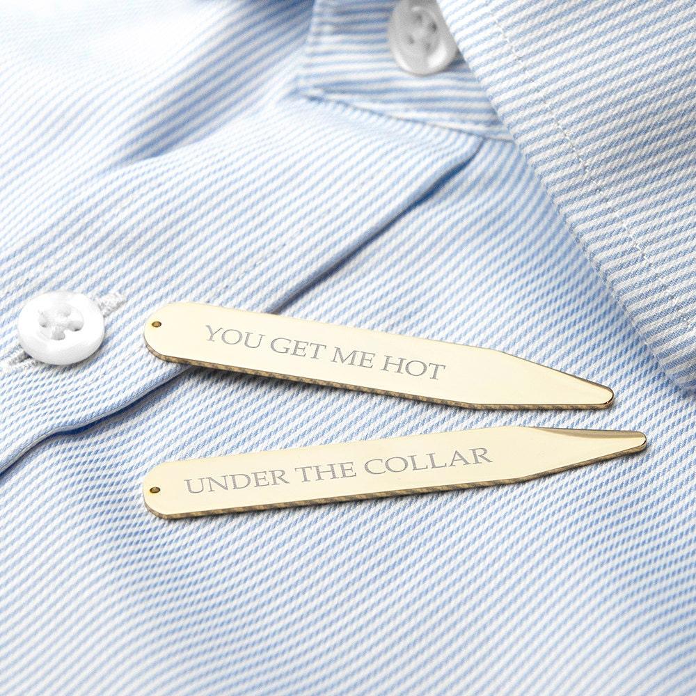 Custom Secret Message Collar Stays Gold Romantic Gift Etsy