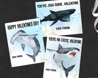 Fin-Tastic Valentine-Valentine Cards-DIY Printable-Holiday Card-INSTANT DOWNLOAD-Holidays-Valentine