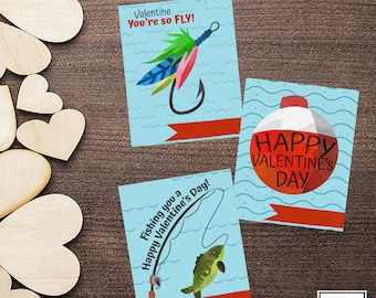 You're so Fly-Fishing-Valentine Cards-DIY Printable-Holiday Card-INSTANT DOWNLOAD-Holidays-Valentine