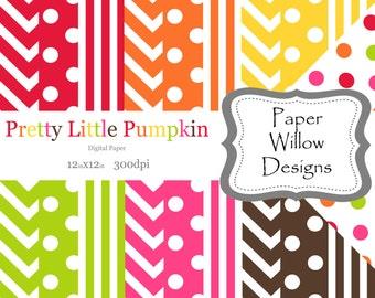 Pretty Little Pumpkin-(18)-12x12 digital paper-300dpi-Included is one bonus paper!!