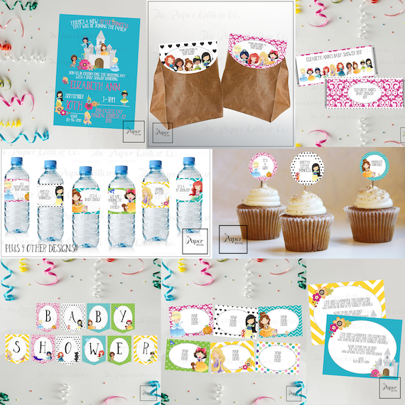 Princess Baby Take Two Baby Shower Set Diy Printable Instant