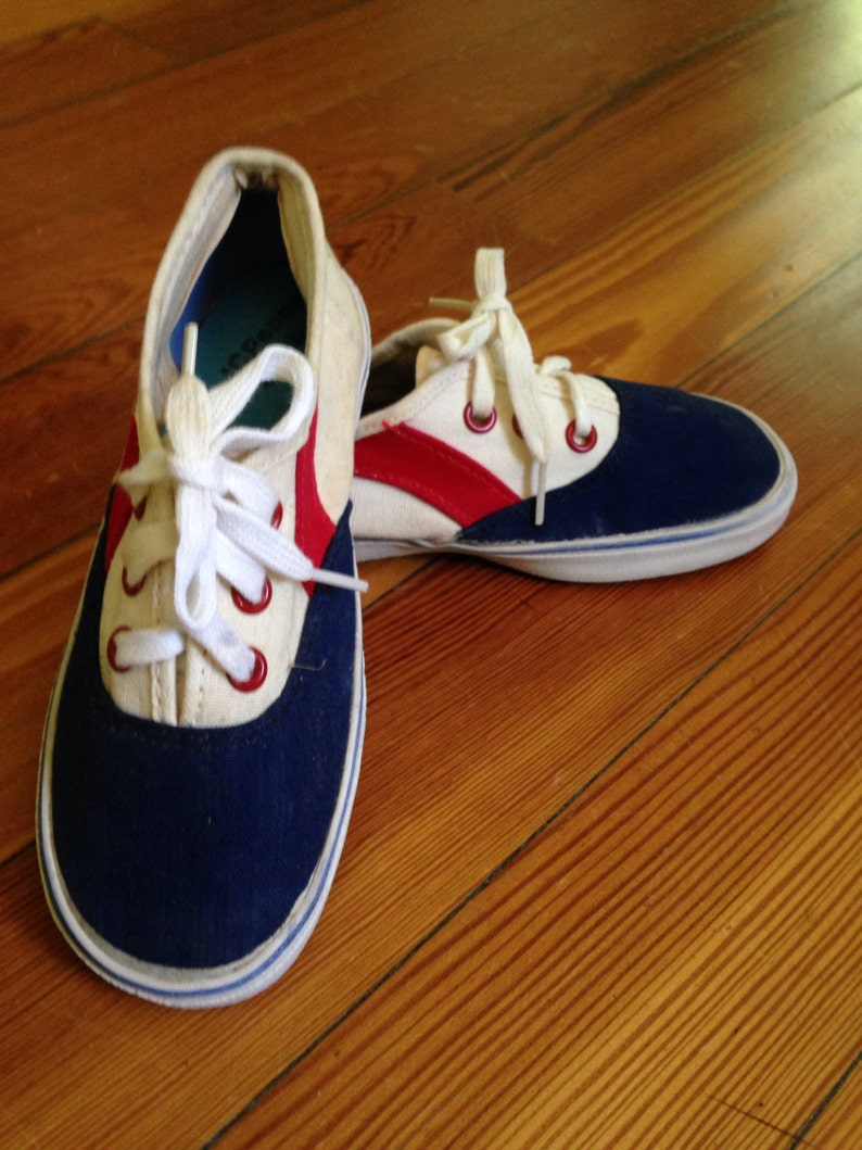 68ff4f4fc9ee Vintage sneakers from jc penney NOS size 1 1 2 red white