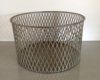 vintage wire basket chemistry laboratory 1960s industrial home decor