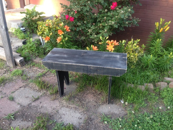 Magnificent Garden Bench Rustic Wooden Bench Primitive Style Distressed Bench Gmtry Best Dining Table And Chair Ideas Images Gmtryco
