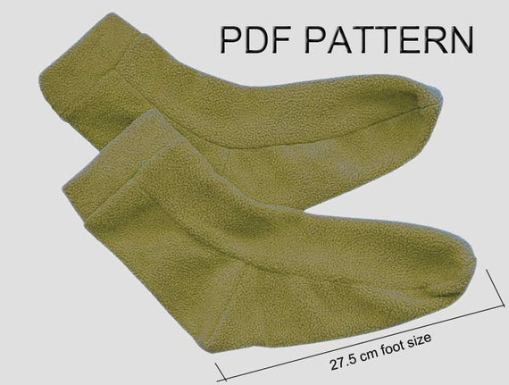 This is an image of Impertinent Free Printable Fleece Sock Pattern