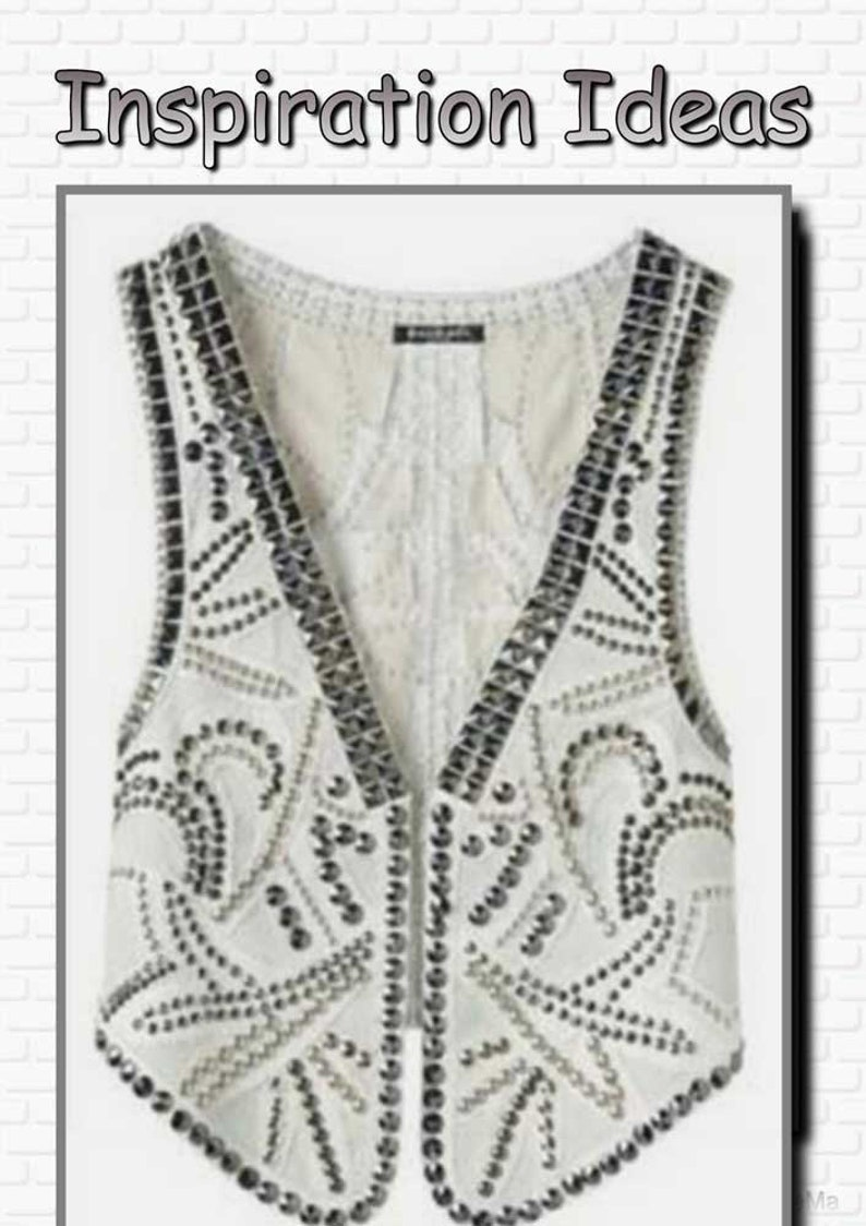 DIY women/'s waistcoat in PDF format full size sewing pattern for A4 printing