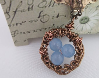 Summer Accessories, blue necklace, quirky jewellery, made in Scotland, one of a kind jewelry