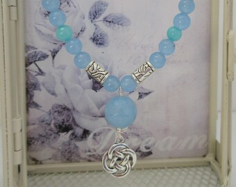 Blue Necklace, Gift for Her, Made in Scotland, Celtic style
