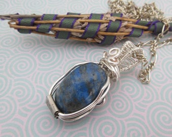 Lapis Lazuli, blue jewellery, made in Scotland, one of a kind
