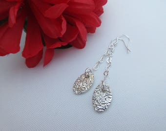 Silver Earrings, Handcrafted silver, something special, made in Scotland