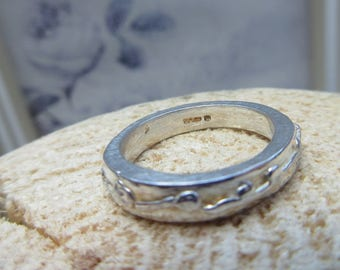 Handcrafted Ring, Silver, made in Scotland, one of a kind