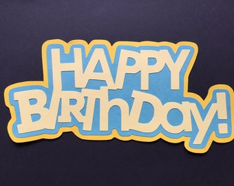 Happy Birthday Title//Sign with Balloons,Party,Wall,Door,Table Decor,Scrapbooking
