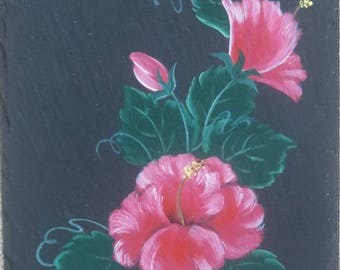 Painted HIBISCUS Slate