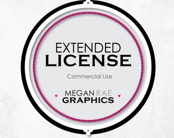Extended License for Commercial Use: Add-On by MEGAN RAE GRAPHICS