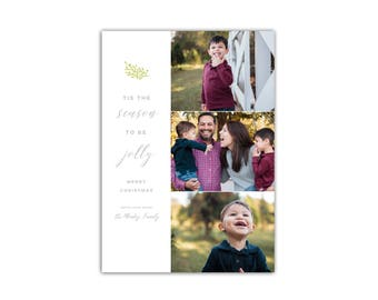 Modern Photo Christmas Cards // Holiday Greeting Card // Family Photo Holiday Cards // 5x7 Printable Digital Card // The Montez