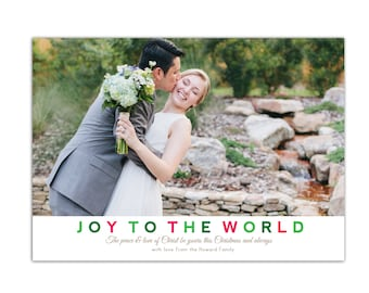 Photo Christmas Cards // Holiday Photo Cards // Christian Religious Christmas Card // 5x7 Printable Holiday Card // The Howards