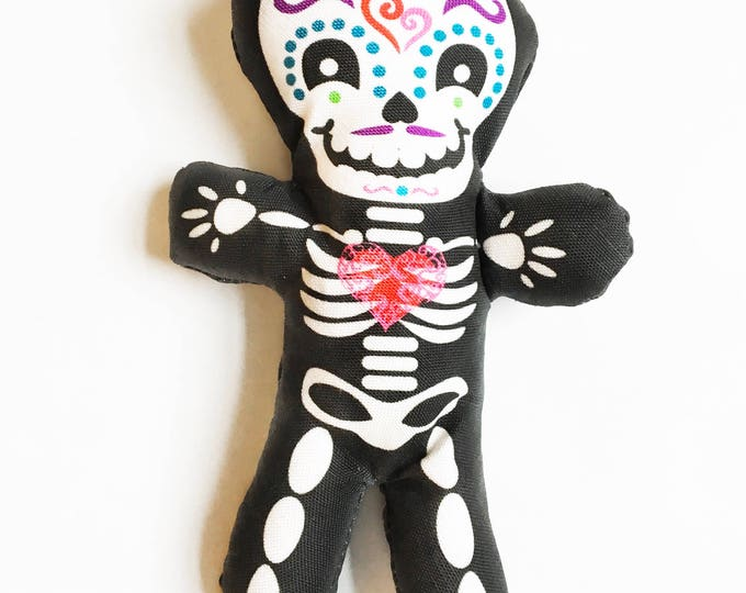 "Day of the Dead decor - Halloween 7"" skeleton fun individual doll"