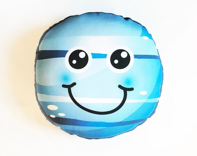 Planet pillow- Space theme kids decor- Neptune