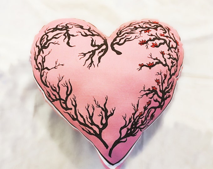Pink Valentines Heart Pillow