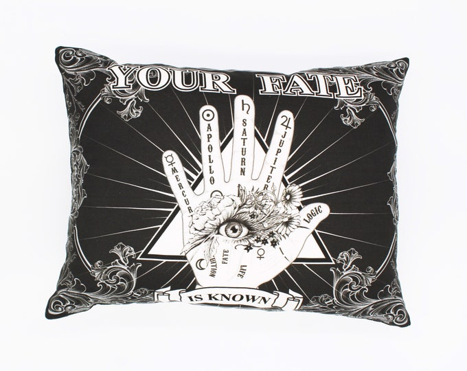 Your fate is known Palmistry Halloween Decor pillow