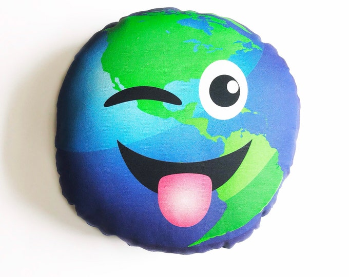 Planet pillow- Space theme kids decor- Earth