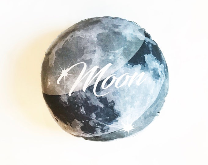 Planet pillow- Space theme kids decor- Moon
