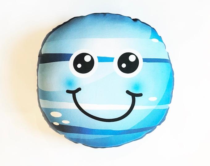 Planet pillow- Space theme kids decor- Neptune