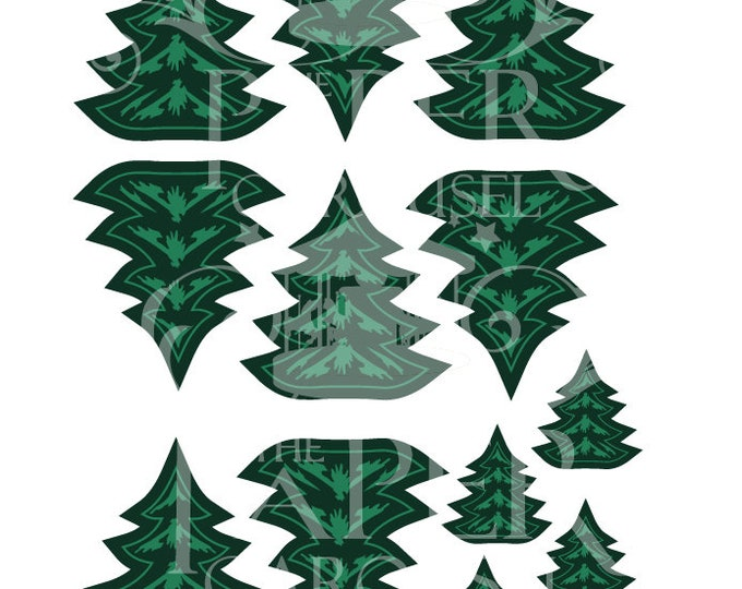 Digital Download Woodland Cupcake Topper- Trees
