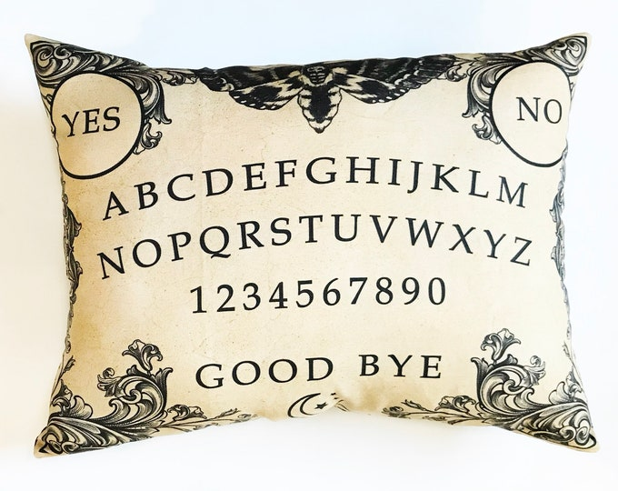 Spirit Board Oija Halloween Decor pillow