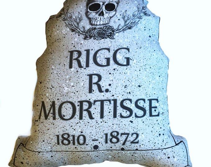Halloween decor Tombstone Pillow - Rigg R Mortisse