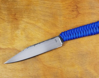 Hand forged bushcraft survival knife