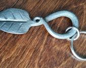 Hand forged leaf key chai...