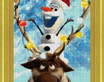 Olaf Cross Stitch Etsy