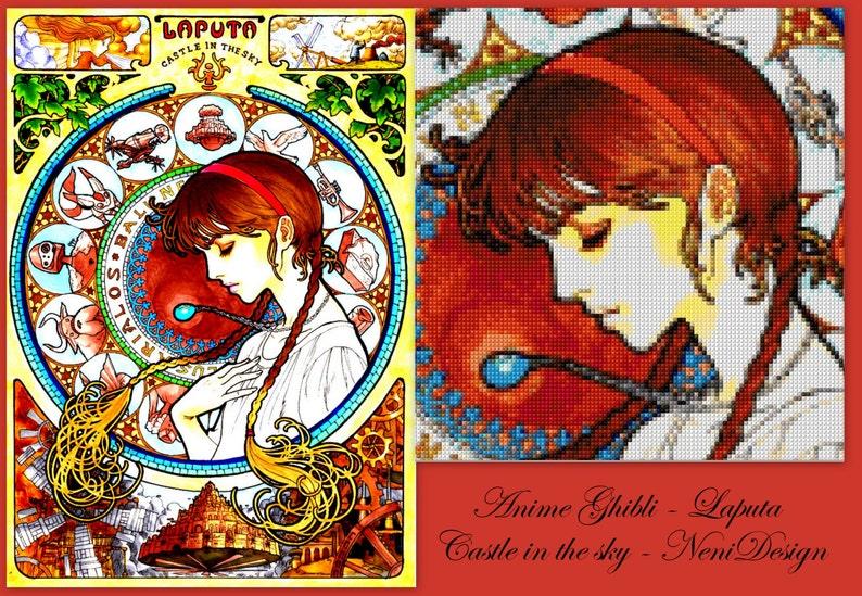 anime Anime Ghibli Laputa Castle in the sky cross stitch pattern instant download! cross stitch anime PDF pattern anime pattern