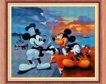 Mickey and Mickey, cross stitch pattern, disney pattern, disney cross stitch, Mickey cross stitch, Mickey, PDF pattern - instant download!