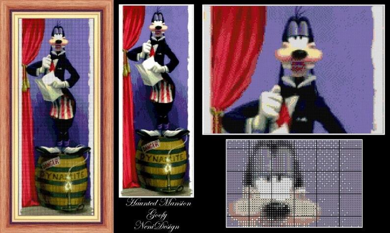 disney cross stitch haunted mansion cross stitch Goofy instant download! Haunted Mansion Goofy cross stitch pattern PDF pattern
