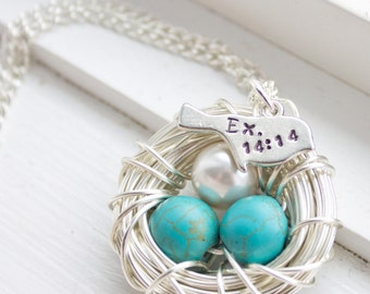 Miscarriage Necklace - Nest Necklace for Mom Gift for Grieving Mother - Miscarriage Jewelry