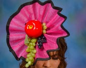 Fruity Fascinator.  Kentucky Derby Fascinator.  Hot Pink Fascinator.  Pink & Black Fascinator.