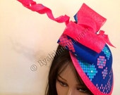 Ankara Fabric Fascinator - African Fascinator - Royal Ascot Hat Kentucky Derby Hat  Church Hat - Couture Hat.