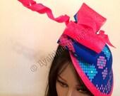 Ankara Fabric Fascinator - African Fascinator - Royal Ascot Hat Kentucky Derby Hat  Church Hat - Couture Hat.