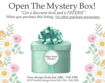 Premade Freebie Graphics | Get a Discount Design Plus a Free Mystery Gift Box For Only Purchasing This Listing | FREE Item Inside The Box!