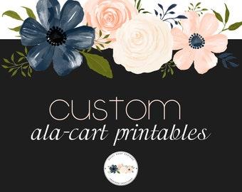 Custom Order Printable Ala-Cart Items to Match All Custom Etsy Sets Facebook Sets | Printable Items to Print at Home or at Vistaprint.com