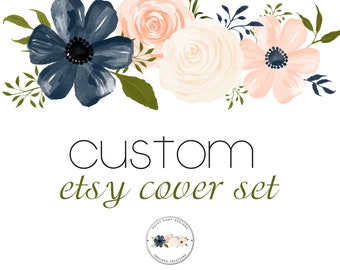 Custom Order Etsy Cover Photo | Etsy Banner Sized 1680 x 420 or Smaller Size | Customized For Etsy Shop | For Small Crafty Business Owners