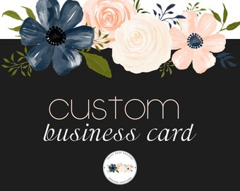 Custom Order Business Card Design | Personal or for  Small Crafty Business Owners | Double Sided Business Card Printing Template